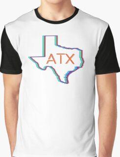 ATX Austin Texas Neon Lights Retro Graphic T-Shirt