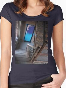 staircase of dreams abandoned Women's Fitted Scoop T-Shirt