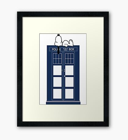 Snoopy / Dr. Who Framed Print