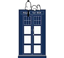 Snoopy / Dr. Who Photographic Print