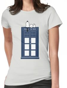 Snoopy / Dr. Who Womens Fitted T-Shirt