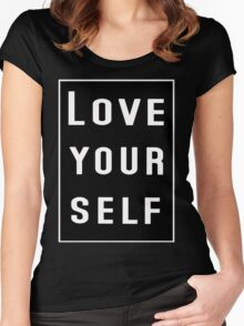 Love yourself Justin Bieber Women's Fitted Scoop T-Shirt