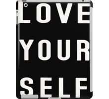 Love yourself Justin Bieber iPad Case/Skin