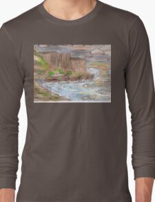 Ocean Sunset Cliffs Long Sleeve T-Shirt