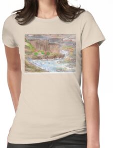 Ocean Sunset Cliffs Womens Fitted T-Shirt