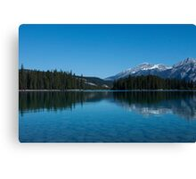 Pyramid Lake Alberta, Canada Canvas Print