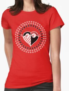 Love is Radically Blind (Black/Red Ver.) Womens Fitted T-Shirt