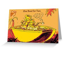 SolForce- One Bowl for Two Greeting Card