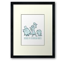 Haunted Mansion Beware of Hitchhiking Ghosts Framed Print