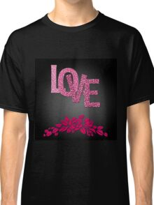 Valentine's day in black Classic T-Shirt