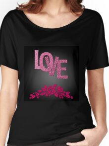Valentine's day in black Women's Relaxed Fit T-Shirt