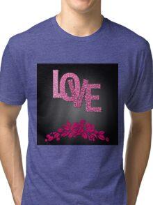 Valentine's day in black Tri-blend T-Shirt