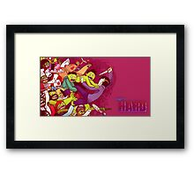 Party Hard - Zombie Rush Framed Print