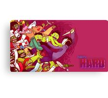 Party Hard - Zombie Rush Canvas Print