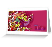 Party Hard - Zombie Rush Greeting Card