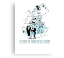 Awesome Art Hitchhiking Hosts from the Haunted Mansion Canvas Print