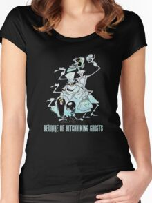 Awesome Art Hitchhiking Hosts from the Haunted Mansion Women's Fitted Scoop T-Shirt