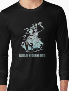 Awesome Art Hitchhiking Hosts from the Haunted Mansion Long Sleeve T-Shirt