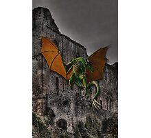 Dragon & Castle Fantasy Artwork Photographic Print