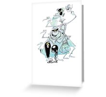 Ezra Phineas and Gus Hitchhiking Ghosts Greeting Card