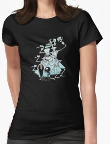 Ezra Phineas and Gus Hitchhiking Ghosts Womens Fitted T-Shirt