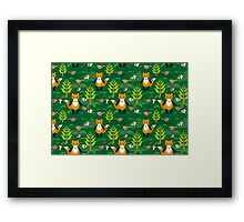 fox and forest tree.  Framed Print