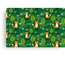 fox and forest tree.  Canvas Print