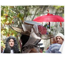 Baroque Period Hat with Flowers Poster