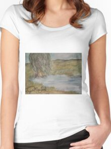 Willow On Pond Women's Fitted Scoop T-Shirt