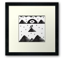'Pyramids' design by LUCILLE Framed Print