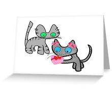 Two Cats On ValentinesDay Greeting Card