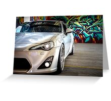 Toyota 86 GTS Parked  Greeting Card