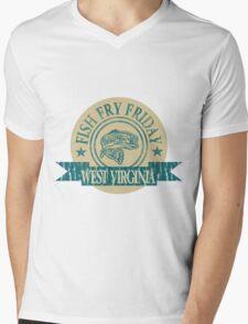 WEST VIRGINIA FISH FRY Mens V-Neck T-Shirt
