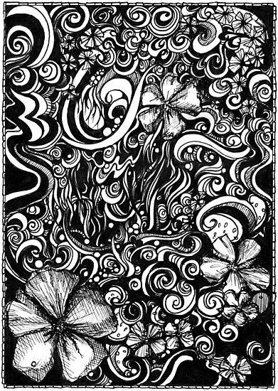 Overrun, Ink Drawing by Danielle Scott
