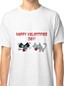Cats Wish On Valentines Day Classic T-Shirt