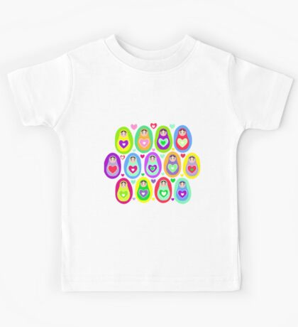 cute dolls Matryoshka Kids Tee