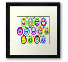 cute dolls Matryoshka Framed Print