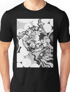 Moonlight Reflections, Ink Drawing Unisex T-Shirt
