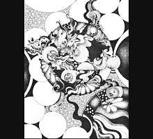Black and White Doodle, Pointillism Unisex T-Shirt