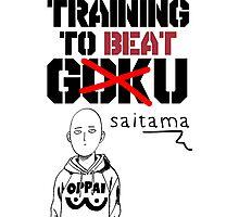 Training To Beat Saitama! Photographic Print
