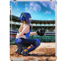 Softball Catcher And Stadium Painting iPad Case/Skin