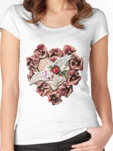 VALENTINE MESSAGE FOR MY LOVE Women's Fitted Scoop T-Shirt