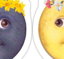 Moon and Sun Emoji Flower crown. Sticker