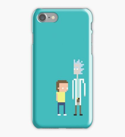 Rick and Morty Pixels  iPhone Case/Skin