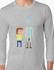 Rick and Morty Pixels  Long Sleeve T-Shirt
