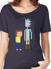 Rick and Morty Pixels  Women's Relaxed Fit T-Shirt