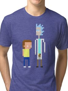 Rick and Morty Pixels  Tri-blend T-Shirt