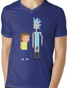Rick and Morty Pixels  Mens V-Neck T-Shirt