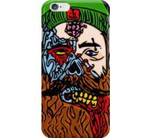 HipsterZombieBeardguy iPhone Case/Skin