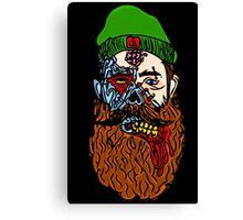HipsterZombieBeardguy Canvas Print